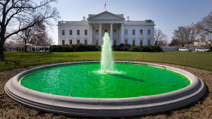St. Patick's Day Green Fountain